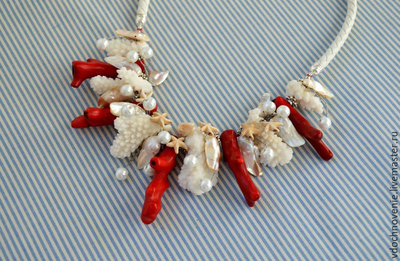 Necklace - choker 'Sea walk', Chokers, Kolomna,  Фото №1