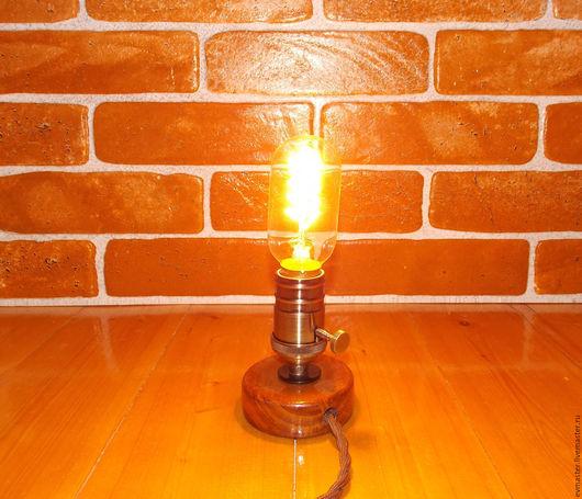 Освещение ручной работы. Ярмарка Мастеров - ручная работа. Купить Мини лампа Эдисона. Handmade. Разноцветный, водопроводные трубы, металл