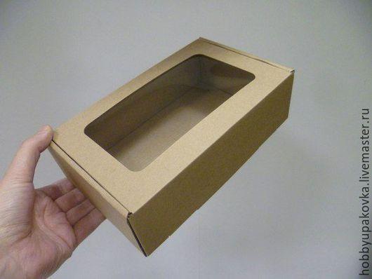 Упаковка ручной работы. Ярмарка Мастеров - ручная работа. Купить Коробка 23х14х6,5см микрогофрокартон. Handmade. Упаковка коробка