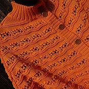 Пончо ручной работы. Ярмарка Мастеров - ручная работа Пончо крупной вязки. Handmade.