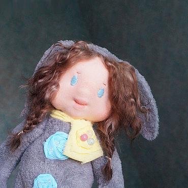 Куклы и игрушки ручной работы. Ярмарка Мастеров - ручная работа Вальдорф-долл девочка-зайка Милочка.. Handmade.