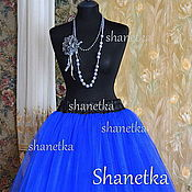 Одежда handmade. Livemaster - original item The skirt is made of tulle Sapphire. Handmade.