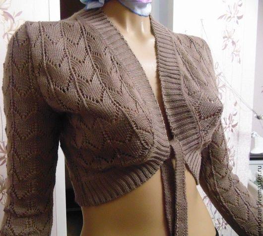 Болеро, шраг ручной работы. Ярмарка Мастеров - ручная работа. Купить Болеро вязаное ажурное. Handmade. Вязаная кофта