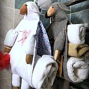Для дома и интерьера ручной работы. Ярмарка Мастеров - ручная работа Банные ОВЦЫ    (хранение полотенец). Handmade.