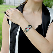 handmade. Livemaster - original item Nig bracelet in 925 sterling silver with stones GR0006. Handmade.