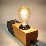 Настольные лампы ручной работы. Ярмарка Мастеров - ручная работа Лампа чёрно-белый свет. Handmade.