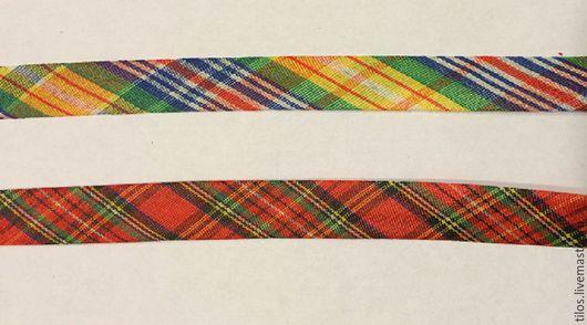 Шитье ручной работы. Ярмарка Мастеров - ручная работа. Купить косая бейка х/б шотландка 2 цвета. Handmade. Тесьма