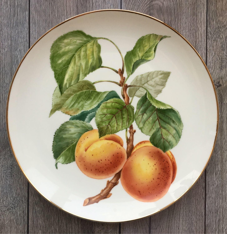 Painted porcelain. Plate ' Peaches», Plates, Kaluga,  Фото №1
