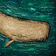 Фантазийные сюжеты ручной работы. Ярмарка Мастеров - ручная работа. Купить Китовая мистика. Handmade. Живопись, бежевый, коричневый, изумрудный