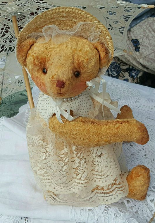 Мишки Тедди ручной работы. Ярмарка Мастеров - ручная работа. Купить Винтажные - интерьерные куклы. Handmade. Мишка, винтаж, интерьер