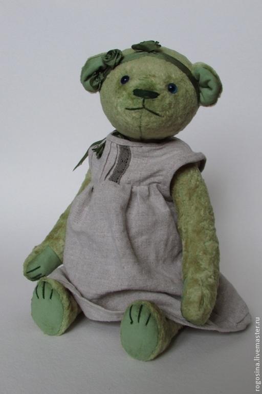 Мишки Тедди ручной работы. Ярмарка Мастеров - ручная работа. Купить Мишка Груня. Handmade. Мятный, мишка в подарок, плюш