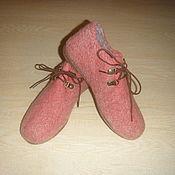 Обувь ручной работы. Ярмарка Мастеров - ручная работа Валяные туфли, 37 размер. Handmade.