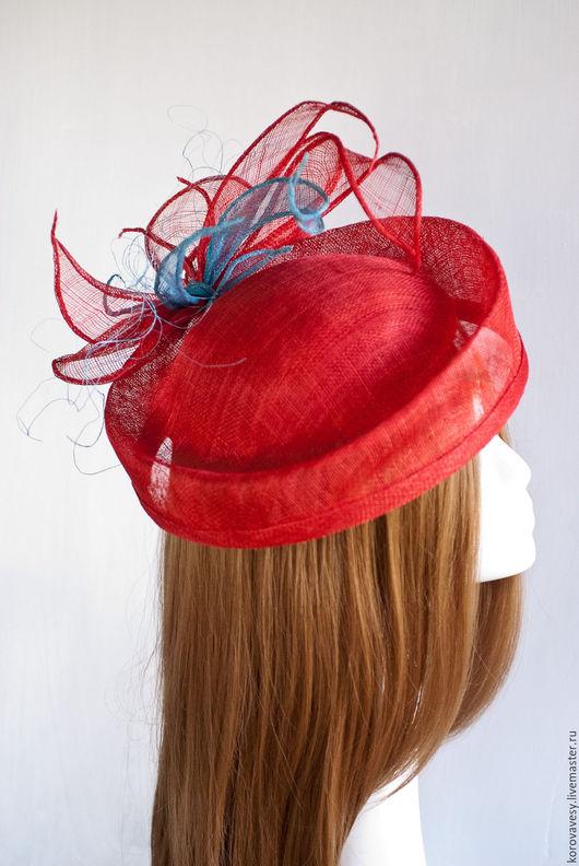 """Шляпы ручной работы. Ярмарка Мастеров - ручная работа. Купить """"Корсика"""". Handmade. Ярко-красный, шляпка, летняя шляпа, москва"""