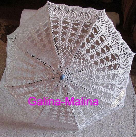 Зонты ручной работы. Ярмарка Мастеров - ручная работа. Купить Вязаный зонт. Handmade. Белый, ручная работа