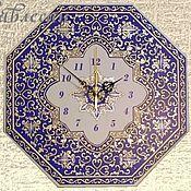 """Для дома и интерьера ручной работы. Ярмарка Мастеров - ручная работа Часы настенные """"Арабеска"""" в восточном стиле в гостиную. Handmade."""