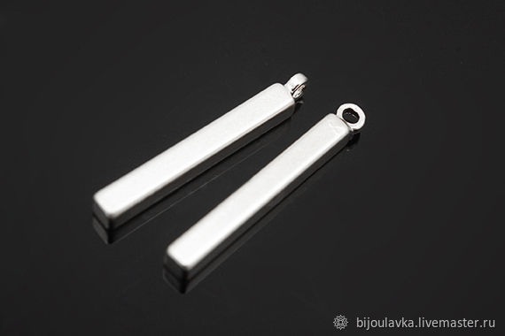 Подвеска палочка, 17 мм, родиевое покрытие, Южная Корея, Подвески, Москва,  Фото №1