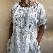 """Одежда handmade. Livemaster - original item Платье из хлопкового шитья и кружева в стиле бохо """"Арабелла"""" молочное. Handmade."""