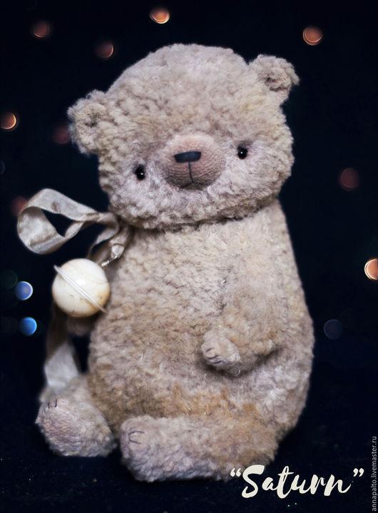 Авторский мишка тедди из коллекции `Парад Планет` мишка тедди Сатурн, фото мишки тедди, мишка тедди в подарок, мишка тедди фото, мишки тедди от Анна Палто