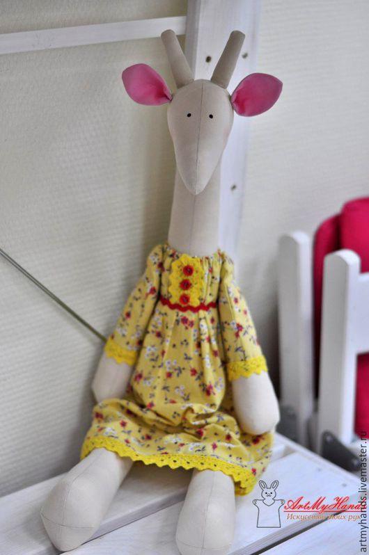 Куклы Тильды ручной работы. Ярмарка Мастеров - ручная работа. Купить Жирафа Полли. Handmade. Желтый, тильда игрушка, лето