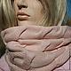 Шарфы и шарфики ручной работы. Розвый снуд из мериноса. Crazyneedle (Наталия). Интернет-магазин Ярмарка Мастеров. Снуд, женский шарф