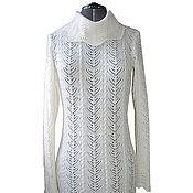 Одежда ручной работы. Ярмарка Мастеров - ручная работа Платье белое ажур с косами.Авторская работа. Handmade.