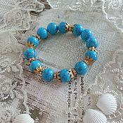 Украшения handmade. Livemaster - original item Turquoise bracelet-Happy day, choice. Handmade.