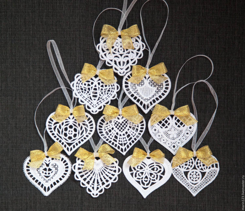 10pcs hearts. A set of Christmas ornaments, Christmas decorations, Samara,  Фото №1