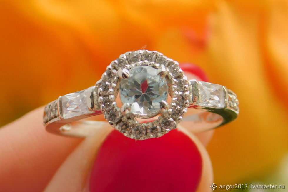 Ring with aquamarine, Rings, Sergiev Posad,  Фото №1