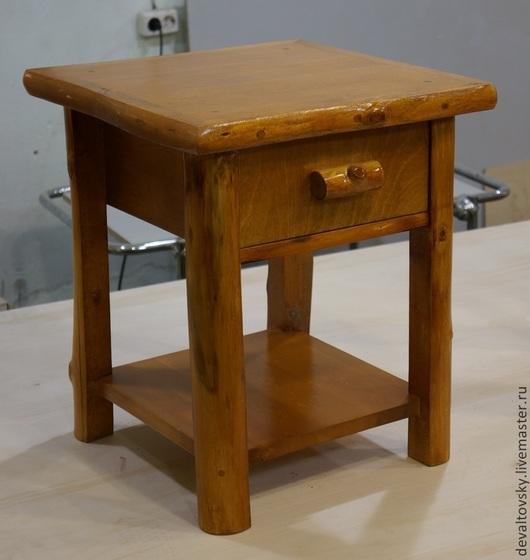 Мебель ручной работы. Ярмарка Мастеров - ручная работа. Купить Столик, тумбочка прикроватная. Handmade. Оранжевый, рустик, мебель из дерева
