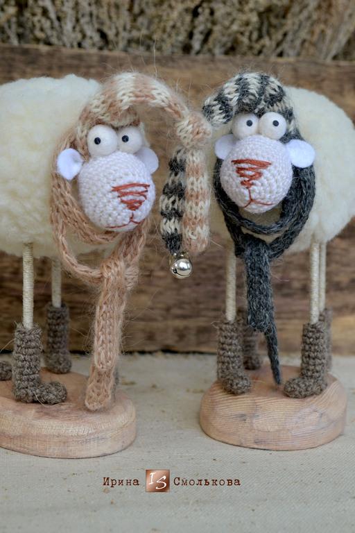 Игрушки животные, ручной работы. Ярмарка Мастеров - ручная работа. Купить ОВЕЧКИ в домиках. Handmade. Бежевый, овечка в подарок