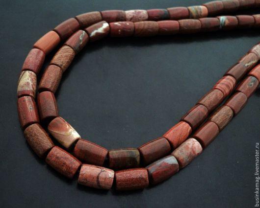 Для украшений ручной работы. Ярмарка Мастеров - ручная работа. Купить Яшма бусины  трубочки 12мм. Handmade. Натуральные камни