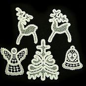 Подарки к праздникам handmade. Livemaster - original item Fishnet dance. A set of Christmas ornaments. Handmade.