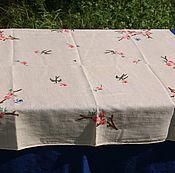 Винтаж handmade. Livemaster - original item An old tablecloth with embroidery. Handmade.