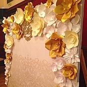 Цветы ручной работы. Ярмарка Мастеров - ручная работа Цветы из бумаги для пресс-волла. Handmade.