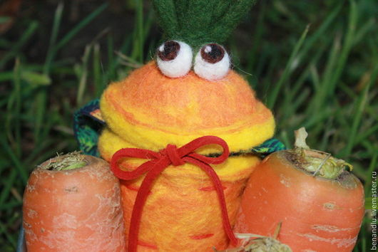 Сумки и аксессуары ручной работы. Ярмарка Мастеров - ручная работа. Купить Морковный сюрприз. Сумка. Handmade. Рисунок, морковка из шерсти