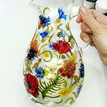 """Посуда ручной работы. Ярмарка Мастеров - ручная работа Кувшин """"Летний"""" 1л.. Handmade."""