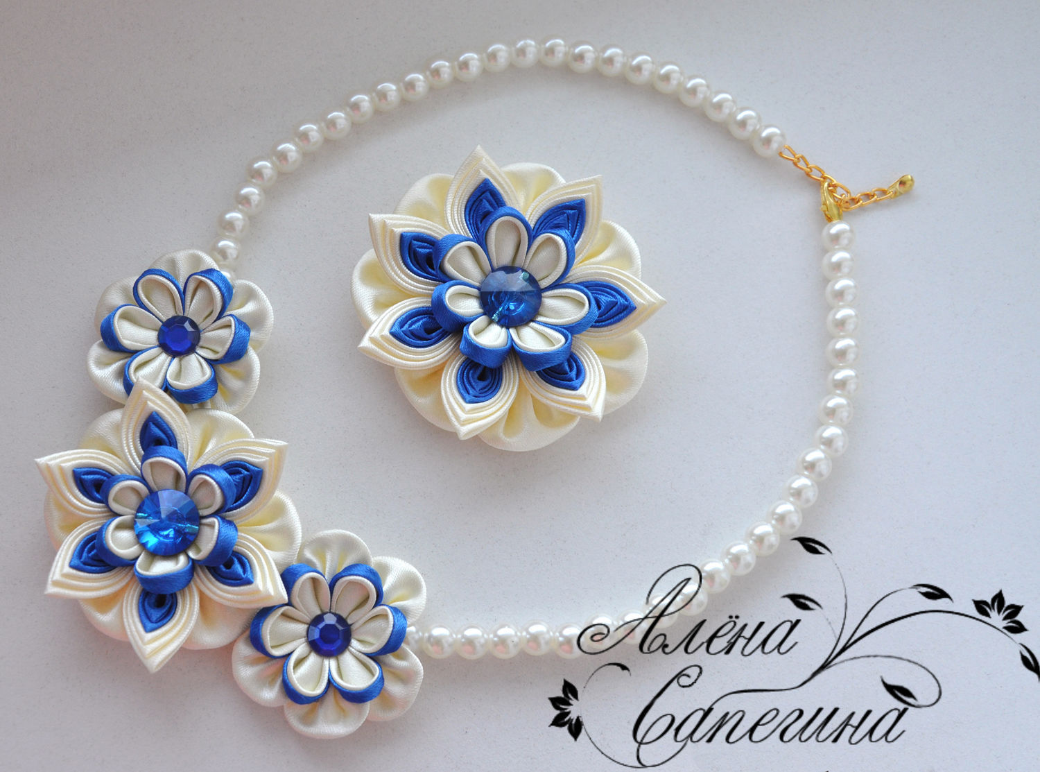 Kit 'Little lady'. Necklace and hair clip. Art. KM-60, Jewelry Sets, Novosibirsk,  Фото №1