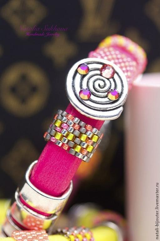 """Браслеты ручной работы. Ярмарка Мастеров - ручная работа. Купить Браслет Regaliz """"Розовый неон"""". Handmade. Розовый, неоновый цвет"""