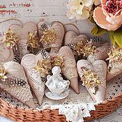 Куклы и игрушки ручной работы. Ярмарка Мастеров - ручная работа Тильда сердечки в стиле Винтаж. Handmade.