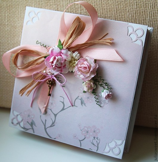 """Подарочная упаковка ручной работы. Ярмарка Мастеров - ручная работа. Купить Подарочная коробочка для украшений """" Розовая дымка"""". Handmade."""