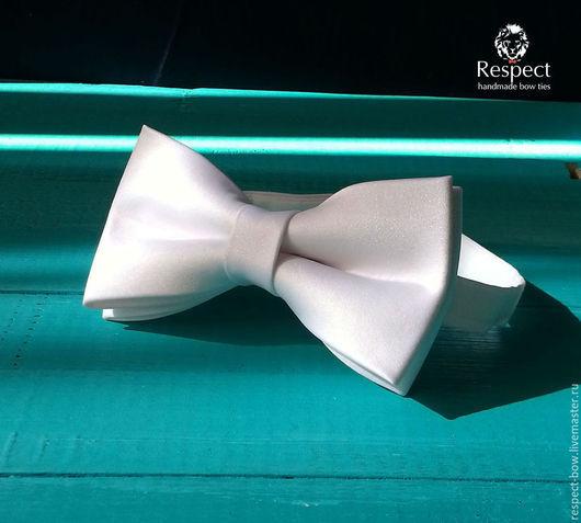 Галстуки, бабочки ручной работы. Ярмарка Мастеров - ручная работа. Купить Белая галстук бабочка White tie / бабочка-галстук белая. Handmade.