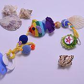 """Работы для детей, ручной работы. Ярмарка Мастеров - ручная работа Держатель для пустышки или грызунка """"Морской"""". Handmade."""