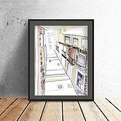 Картины и панно handmade. Livemaster - original item Graphics, watercolour