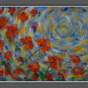 """Картины и панно ручной работы. Ярмарка Мастеров - ручная работа Картина шерстью """"Маковый круговорот"""". Handmade."""