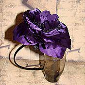 Украшения ручной работы. Ярмарка Мастеров - ручная работа Черно-фиолетовые цветы. Handmade.