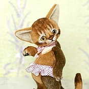Куклы и игрушки ручной работы. Ярмарка Мастеров - ручная работа Абиссинская кошечка. Коллекционная игрушка тедди. Handmade.