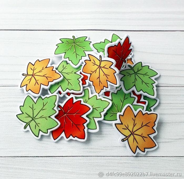 Листья. Вырубка из фетра и ткани, Аппликации, Рыбинск,  Фото №1