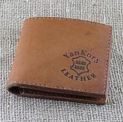 Сумки и аксессуары handmade. Livemaster - original item Men`s wallet light brown. Handmade.