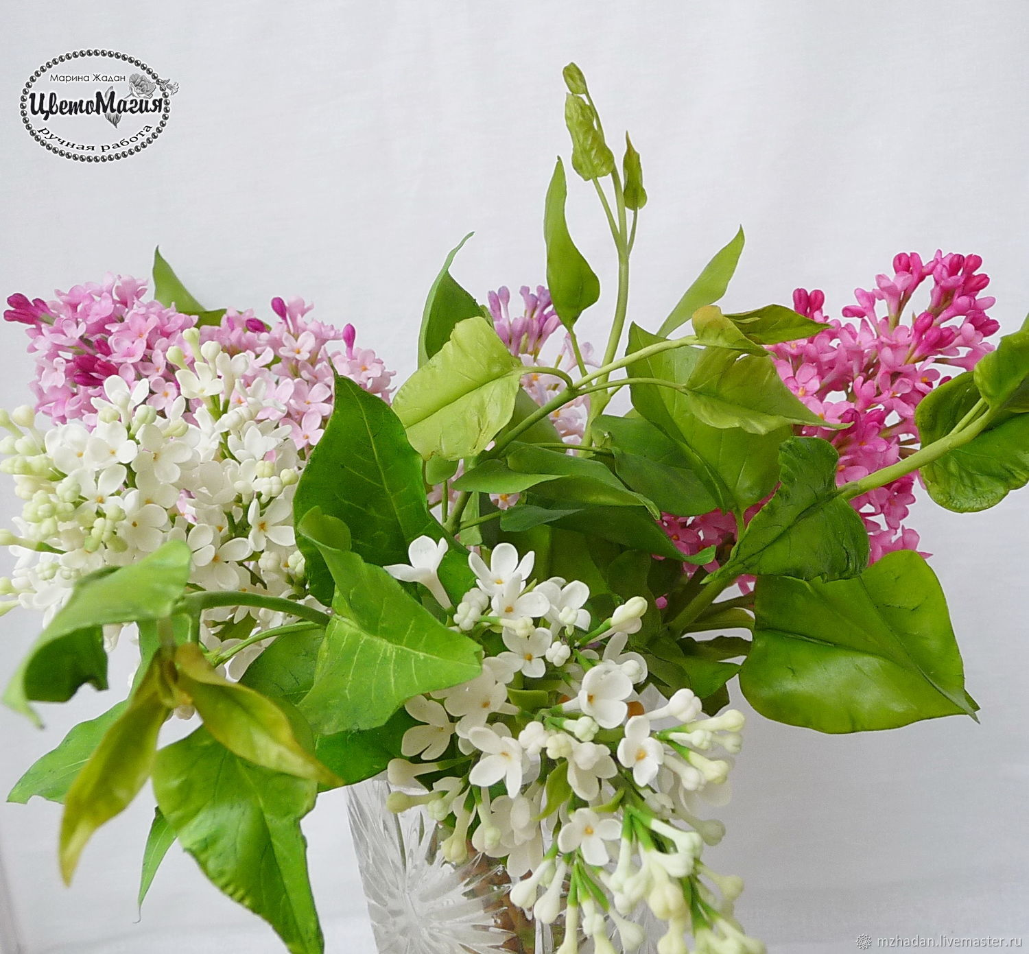 Lilac bouquet from polymer clay custom shop online on livemaster livemaster flowers handmade lilac bouquet from polymer clay custom marina zhadan izmirmasajfo