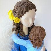 """Подарки к праздникам ручной работы. Ярмарка Мастеров - ручная работа Ангел """"Мама"""" в синем. Handmade."""